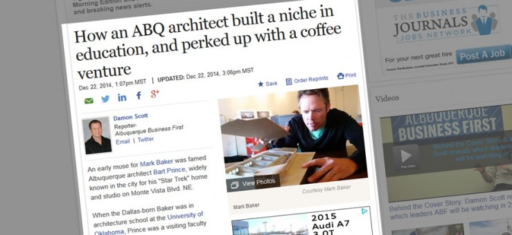 Albuquerque Business Magazine Profiles Mark Baker, AIA